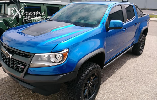 Chevy Colorado ZR2 Front Two Window Tint 35% Carbon