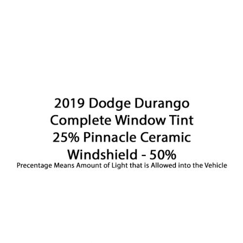 2019 Dodge Durango 25% Complete 50% Windshield