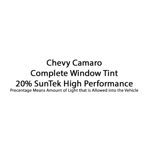 Chevy Camaro ZR1 Complete Window Tint SunTek High Performance 20%