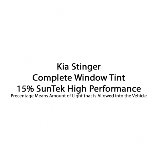 Kia Stinger Complete Window Tint SunTek High Performance 15%