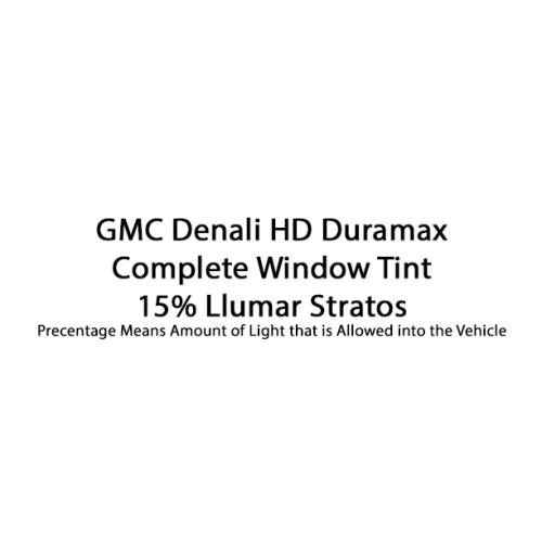 GMC Denali HD Duramax Llumar Stratos 15%