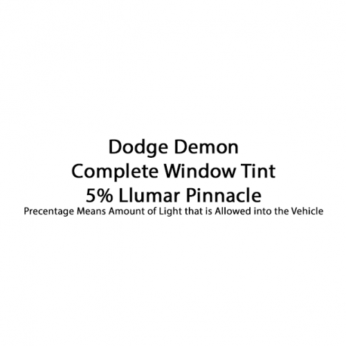 Dodge Demon Llumar Pinnacle 5%
