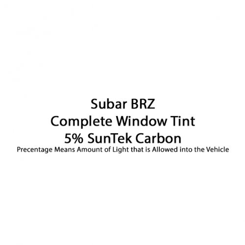 Subaru BRZ Complete Window Tint Suntek Carbon 5%