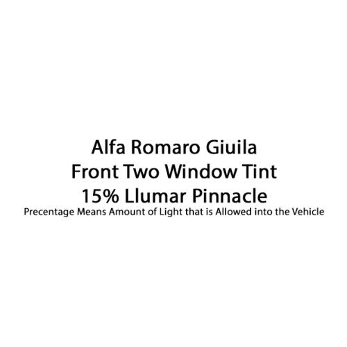 Alfa Romaro Giuila 15% Pinnacle Front Two Window Tint