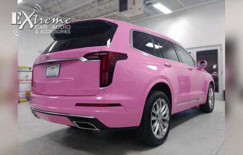 2020 Cadillac XT6 Bubblegum Pink Vinyl Wrap