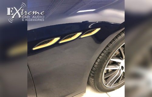 Detail Gold Vinyl Wrap Additions on Maserati Ghibil