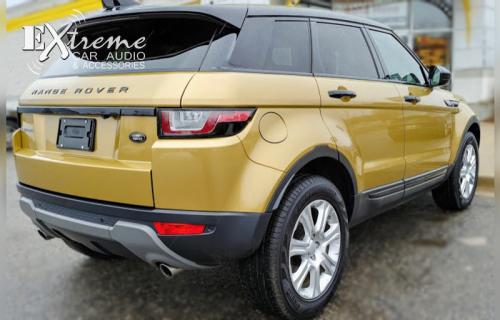 Land Rover Range Rover Evoque Gold Vinyl Wrap