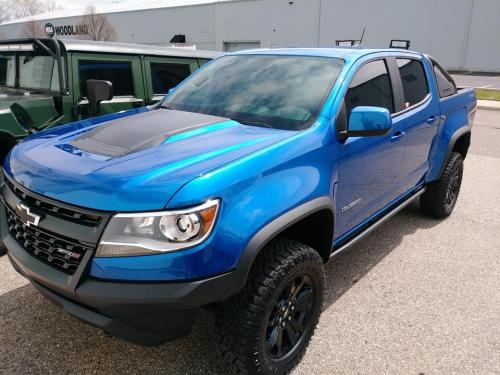 Chevy Colorado ZR2 Front Two Window Tint